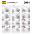 Calendar 2014 Spain Type 21 vector image vector image