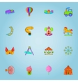 Children park icons set cartoon style vector image