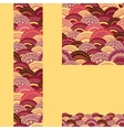 Set of waves seamless pattern and borders vector image vector image