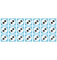 pairs of black dices flat icon set vector image