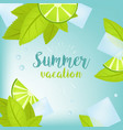 summer time holiday typographic vector image