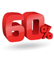 60 percent digits vector image