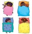 kids sleeping african vector image