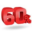 60 percent digits vector image