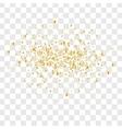 Many falling confetti vector image