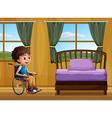 Boy and bedroom vector image