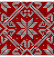 Christmas knitting pattern vector image