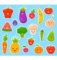 fruits and vegetables vector image