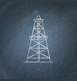 oil derrick icon chalkboard sketch vector image