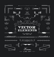 set of vintage retro linear thin line art deco vector image