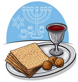 traditional jewish matzoh in passover vector image