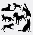 Dog pet animal silhouette 17 vector image