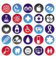 medical icons and signs vector image vector image