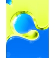 Abstract background green and blue vector image vector image