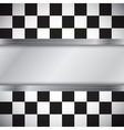 Checkered flag with frame vector image