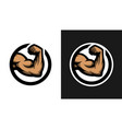 biceps sign two options vector image vector image