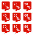 collection of square banners of discount stickers vector image