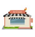 ice-cream shop street store building facade vector image