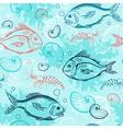 blue marine seamless pattern vector image vector image