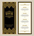 Vintage restaurant or cafe menu design template vector image vector image