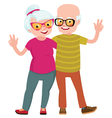 Happy seniors couple husband and wife vector image vector image