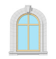 arched window vector image