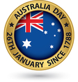 Australia Day gold label vector image