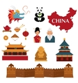 Chinese traditional culture lanterns and objects vector image