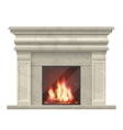 classic fireplace for living room interior vector image