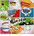 Comic book page divided by lines vector image