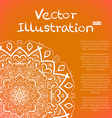 Hand Drawn Mandala Ornament Sketch Mockup vector image