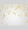 party background with gold confetti celebration vector image