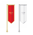 Red and white vertical banner flag templates vector image