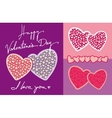 Valentines Day Greeting Card Design Elements vector image