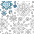 Christmas pattern from snowflakes for a card vector image