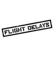 Flight Delays rubber stamp vector image
