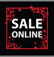 sale online sign vector image