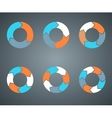 Circle arrows template for your business project vector image