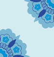 6 Ornamental corners flowers silhouette pattern vector image