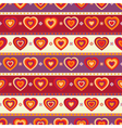 Seamless background with hearts and stripes vector image