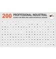 Professional industrial icons vector image