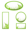 banners with grass vector image