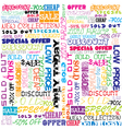 Background with colored sales and sold vector image