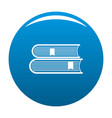 book college icon blue vector image