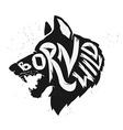 born wild wolf vector image