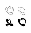 call me back icons set vector image