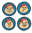 facial expressions emotions icons set vector image