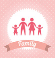 family design vector image