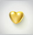 golden realistic heart isolated on white vector image