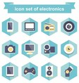 icon set electronics vector image